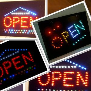 영업중 오픈 사인보드 OPEN  LED 간판 표시판