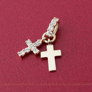14K 더블 십자가펜던트/십자가메달/십자가목걸이