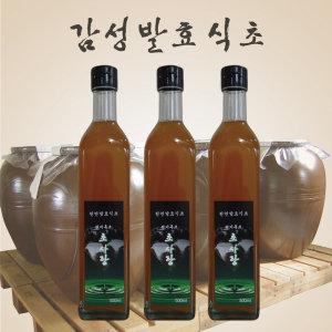 현미흑초 500ml 3병 초사랑 흑초 현미식초 천연발효