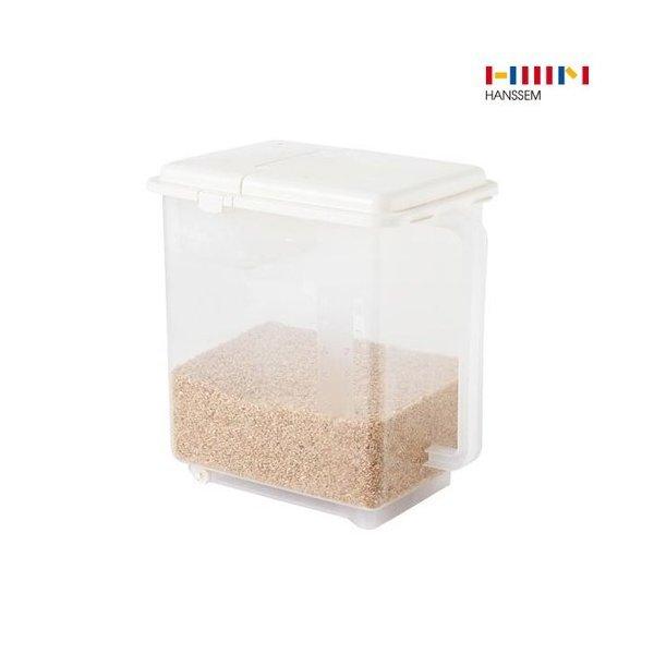 한샘 무빙 핸디 계량 쌀통 11kg/쌀/보관/통/용기/바퀴/플라스틱 ...