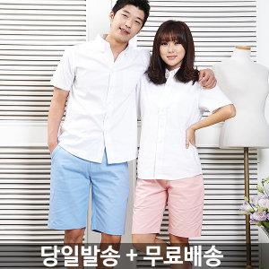 F면반바지F 반바지/5부/여름/여자/커플룩/여성/체크