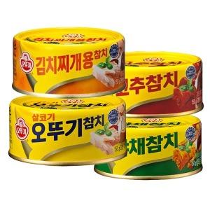 오뚜기참치150g 4종택1(살코기/찌게/고추/야채)참치캔