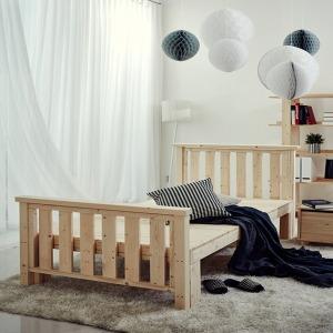 소나무 원목침대 평상형 침대프레임 싱글 수퍼싱글 퀸