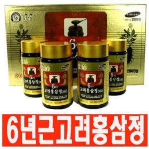 국내산 6년근홍삼 고려홍삼정골드4병+쇼핑백/인삼