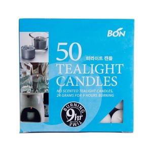 캔들조이 티라이트 50개 멀티팩 9시간연소 향초 양초