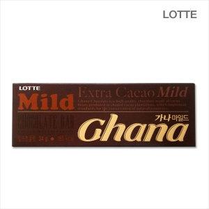 롯데 가나마일드 초콜릿 34g/초콜릿/초콜렛