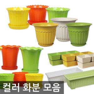 대형 컬러화분/텃밭가꾸기 초화박스 채소밭 화분 받침