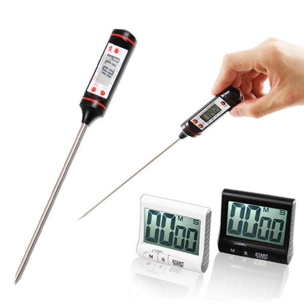 디지털 조리용온도계/요리온도계/탐침/물온도/반신욕