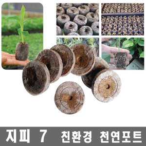 간편 안전한 씨앗 발아 포트(지피10개)-압축상토 팰랫