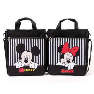 디즈니 멜빵보조가방-세로줄/신발주머니 실내화가방
