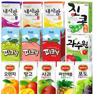 매일피크닉 200ml(24팩)/내사랑/델몬트/과수원/음료수
