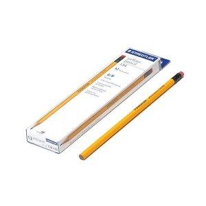 스테들러 134 옐로우 지우개 연필 12본 2B
