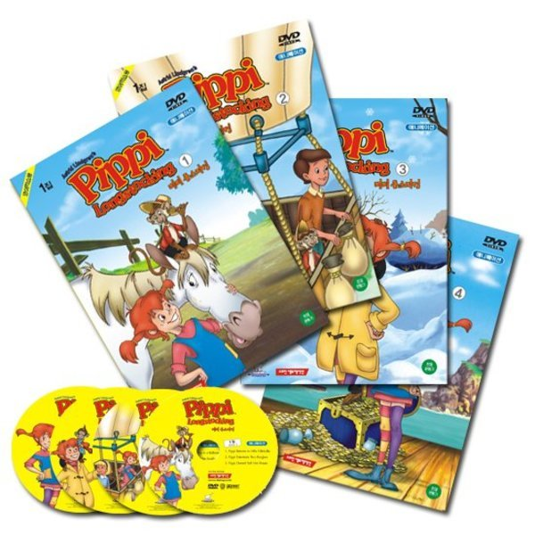 DVD  Pippi Long Stocking 삐삐 롱스타킹 1집 4종세트