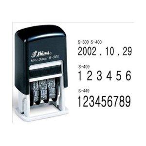 샤이니 자동스탬프 S-409(6단넘버링) 잉크패드 내장