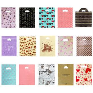 210개이상 링타입 선물 비닐 봉투 쇼핑백 펀칭