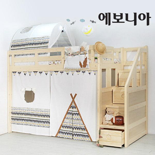 이층침대용 커튼/가랜더/소품/수납걸이/커텐