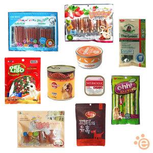 애견간식 강아지간식 특가모음/육포 껌 비스켓 캔