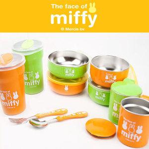 미피 이중스텐식기/유아식기/아동식기/이유식용기/컵
