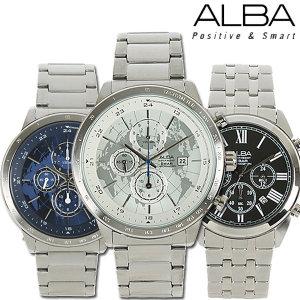 세이코 알바 100M 방수 크로노그라프 남성 손목시계