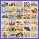 도레미조각상 피겨린 도자기 동물조각상 인테리어소품