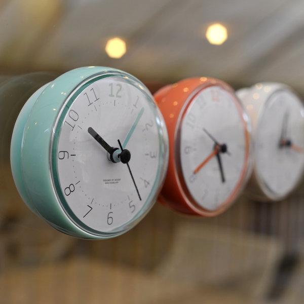 무아스 방수 욕실시계 흡착벽시계 화장실시계