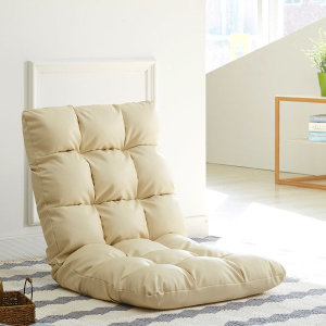 PU파스텔좌식의자/각도조절/인조가죽/의자