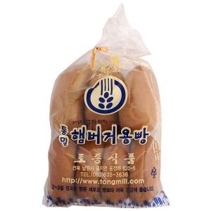 우리밀 통밀 햄버거용빵 / 무방부제 통밀빵