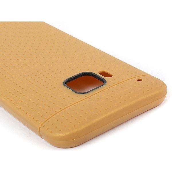 HTC 원 M9 초슬림 도트 실리콘컬러케이스 황토색 무배