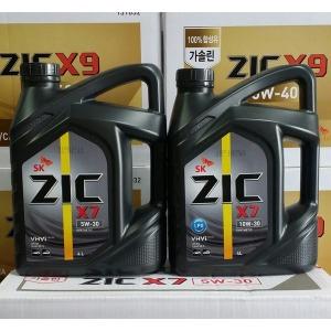 ZIC X7 5W30/4L/LPG/가솔린/엔진오일/합성유/SN+