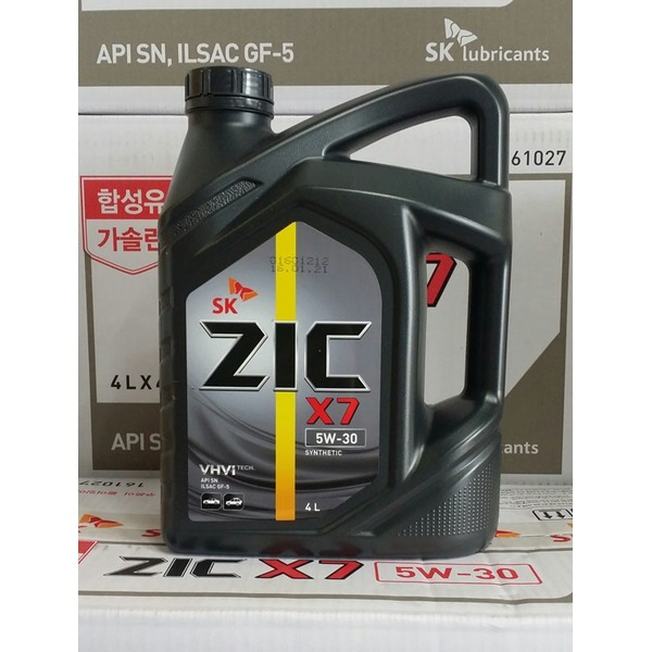 ZIC X7 5W30/4리터/가솔린/엔진오일/합성유/SN+