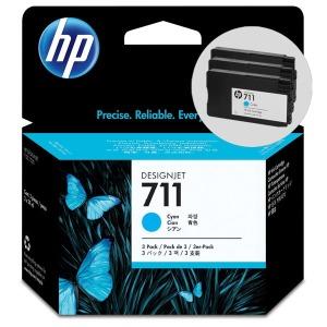 HP711 파랑 잉크 멀티팩 1박스3개입 CZ134A T120 T520