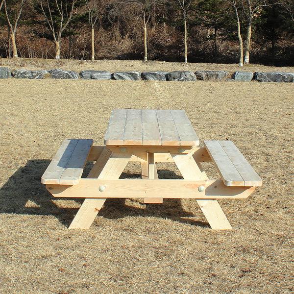 원목 야외 테이블 방부목 야외용 정원 벤치 의자 세트 - 옥션