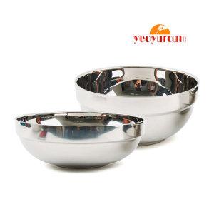 여유로움 이중면기/탕기 2중(냉면 설렁탕 국수 그릇)