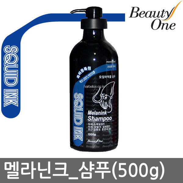 뷰티원 멜라닌크샴푸 500g 오징어먹물 헤어볼륨UP