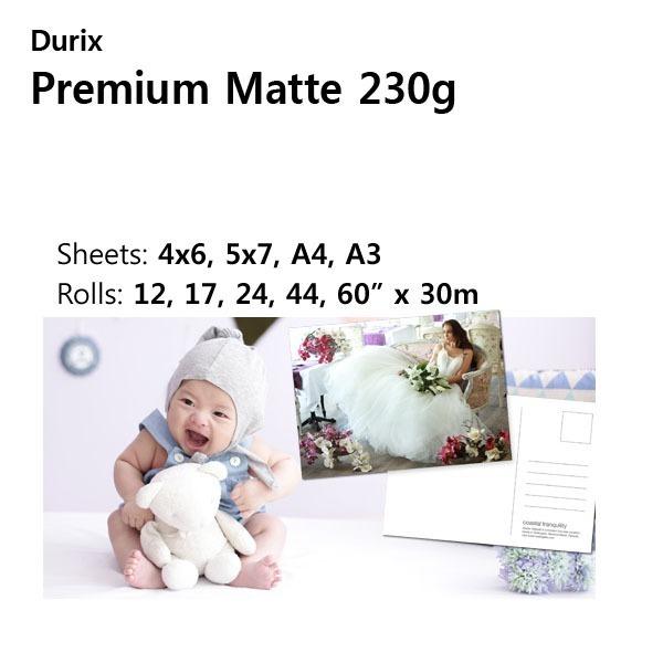 두릭스 premium Matte 230g사진인화지/웨딩/4x6 100매