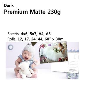 두릭스 premium Matte 230g사진인화지/웨딩/5x7 100매