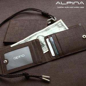 알피나 카드홀더 목걸이 카드지갑 가죽지갑 명함지갑