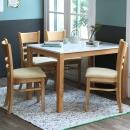 하이그로시 내츄럴 4인 식탁세트/식탁+의자/주방가구
