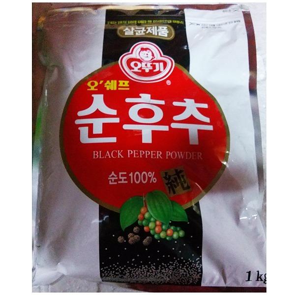 오뚜기 오쉐프 순후추 1kg / 흑후추 순도 100%