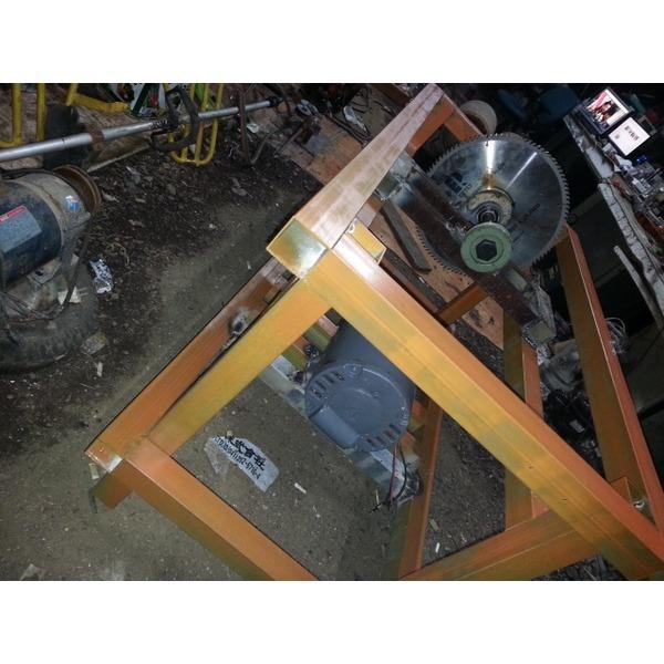 2마력모터 사용한 동력제단기 미완성(재료비만20만원)
