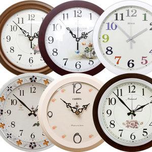 국산 인테리어벽시계/무소음시계/거실/야광/원형/대형