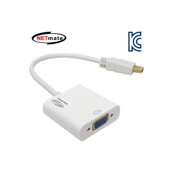NETmate HDMI to VGA(RGB)+Stereo 컨버터/NM-HV02