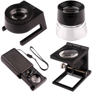 돋보기/루페/휴대용/LED확대경/현미경/안경/대형/관찰