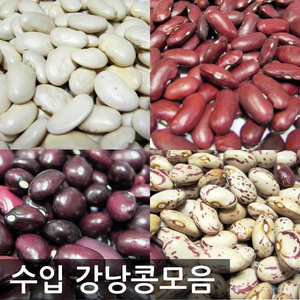수입 흰강낭콩1kg/완두콩/매화콩/울타리콩/동부콩