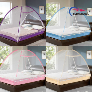 원터치 모기장 텐트 유아용 침대 방충 캐노피 사각
