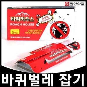 바퀴하우스 5매입/초강력테이프식 바퀴벌레약 퇴치기