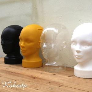 남녀공용 플라스틱 두상마네킹 얼굴 모형 모자걸이대