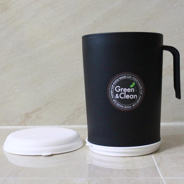홈앤홈 핸디컵 블랙 음식물쓰레기통 1L 음식물수거통