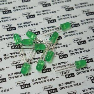 파츠키츠/5파이그린LED/5mm/초록/녹색/아두이노/DIY