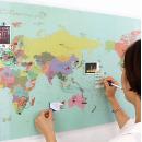 세계지도 월드맵 지구본 포인트벽지 시트지 실크벽지